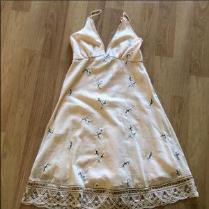 BB Dakota pink floral midi dress
